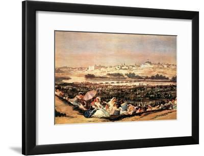 Folk Festival at the San Isidro-Day-Francisco de Goya-Framed Art Print