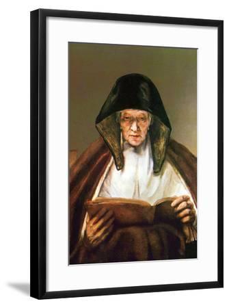 Old Woman, Reading-Rembrandt van Rijn-Framed Art Print