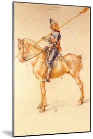 Rider in the Armor-Albrecht D?rer-Mounted Art Print