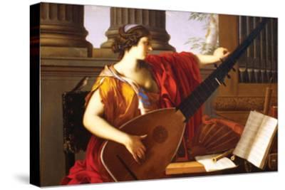 Allegory of Music-Laurent de La Hyre-Stretched Canvas Print