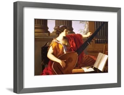 Allegory of Music-Laurent de La Hyre-Framed Art Print