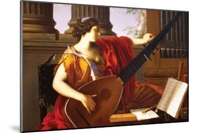 Allegory of Music-Laurent de La Hyre-Mounted Art Print
