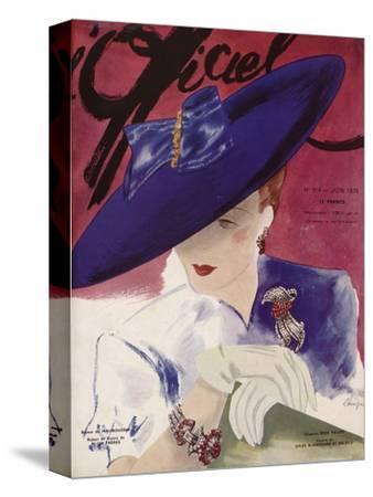 L'Officiel, June 1939 - Rose Valois-Lbenigni-Stretched Canvas Print