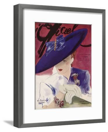 L'Officiel, June 1939 - Rose Valois-Lbenigni-Framed Premium Giclee Print