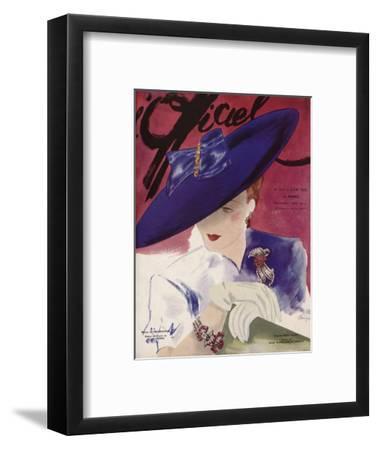 L'Officiel, June 1939 - Rose Valois-Lbenigni-Framed Art Print