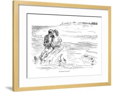 Gibson: Turning Tide, 1901-Charles Dana Gibson-Framed Giclee Print