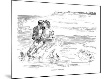 Gibson: Turning Tide, 1901-Charles Dana Gibson-Mounted Giclee Print