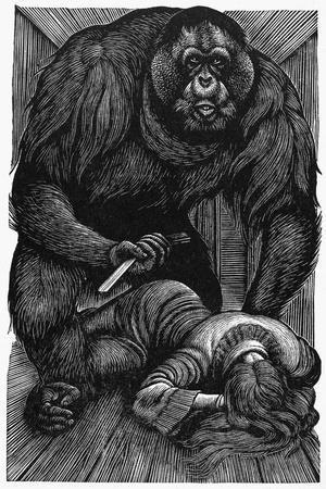 Poe: Rue Morgue, 1841-Fritz Eichenberg-Stretched Canvas Print