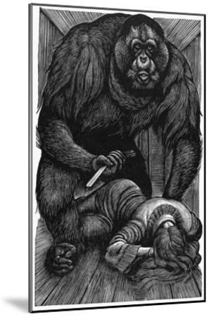 Poe: Rue Morgue, 1841-Fritz Eichenberg-Mounted Giclee Print