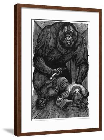 Poe: Rue Morgue, 1841-Fritz Eichenberg-Framed Giclee Print