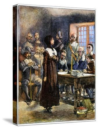 Anne Hutchinson (1591-1643)-Edwin Austin Abbey-Stretched Canvas Print