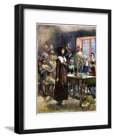 Anne Hutchinson (1591-1643)-Edwin Austin Abbey-Framed Giclee Print
