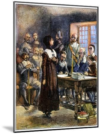 Anne Hutchinson (1591-1643)-Edwin Austin Abbey-Mounted Giclee Print