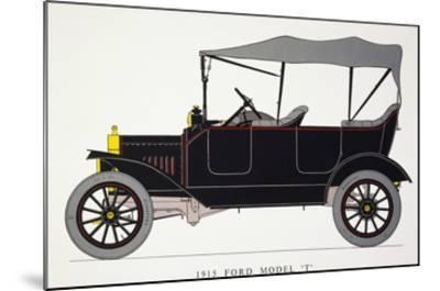 Auto: Model T Ford, 1915--Mounted Giclee Print