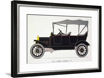 Auto: Model T Ford, 1915--Framed Giclee Print