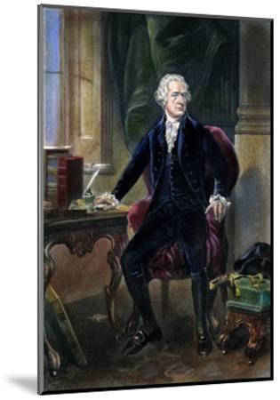 Alexander Hamilton--Mounted Giclee Print
