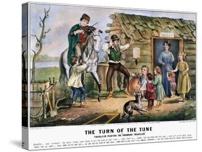 Folk Tradition, 1870-Currier & Ives-Stretched Canvas Print