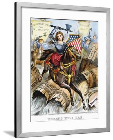 Woman's Holy War, 1874-Currier & Ives-Framed Giclee Print