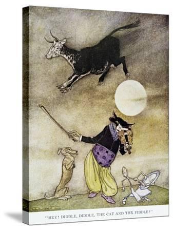 Mother Goose, 1913-Arthur Rackham-Stretched Canvas Print