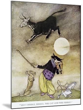 Mother Goose, 1913-Arthur Rackham-Mounted Giclee Print