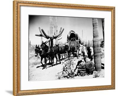 Covered Wagon--Framed Premium Giclee Print