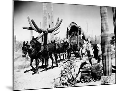 Covered Wagon--Mounted Premium Giclee Print