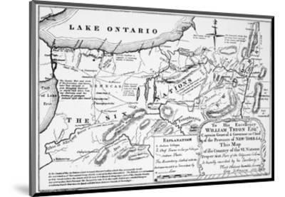 Six Nations: Map, 1771-Guy Johnson-Mounted Premium Giclee Print
