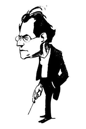 Gustav Mahler (1860-1911)--Stretched Canvas Print