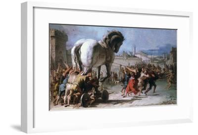 Trojan Horse-Giovanni Domenico Tiepolo-Framed Giclee Print