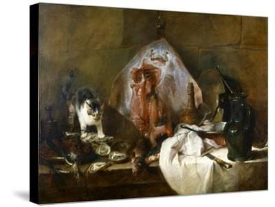 Chardin: The Skate-Jean-Baptiste Simeon Chardin-Stretched Canvas Print