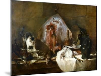 Chardin: The Skate-Jean-Baptiste Simeon Chardin-Mounted Giclee Print
