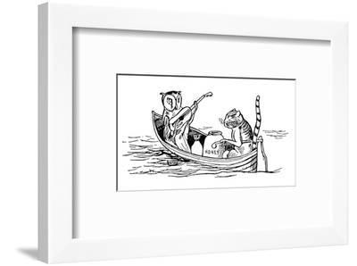 The Owl and the Pussycat-Edward Lear-Framed Premium Giclee Print