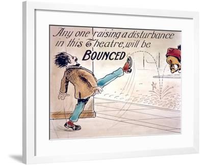 Intermission Slide--Framed Giclee Print