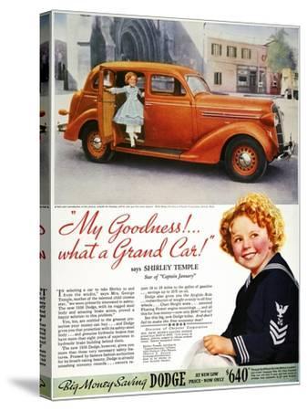 Dodge Automobile Ad, 1936--Stretched Canvas Print