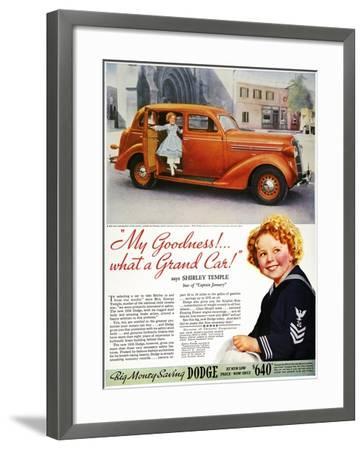 Dodge Automobile Ad, 1936--Framed Giclee Print