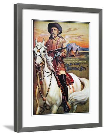 W F Cody Poster, 1910--Framed Giclee Print
