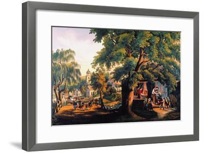 The Village Blacksmith-Currier & Ives-Framed Giclee Print