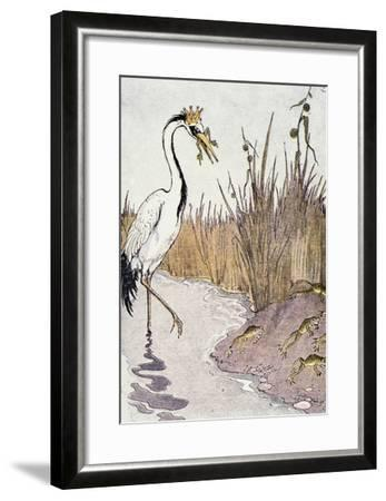 Aesop: Frogs Wish for King-Milo Winter-Framed Giclee Print
