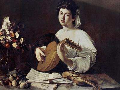 Caravaggio: Luteplayer-Caravaggio-Framed Giclee Print