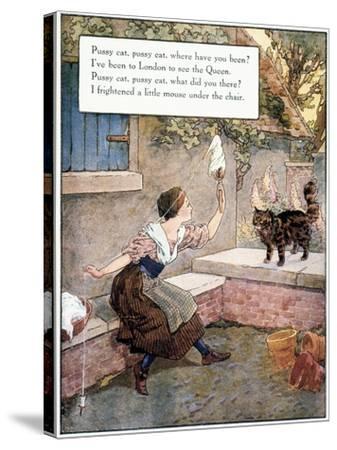 Richardson: Pussy Cat-Frederick Richardson-Stretched Canvas Print