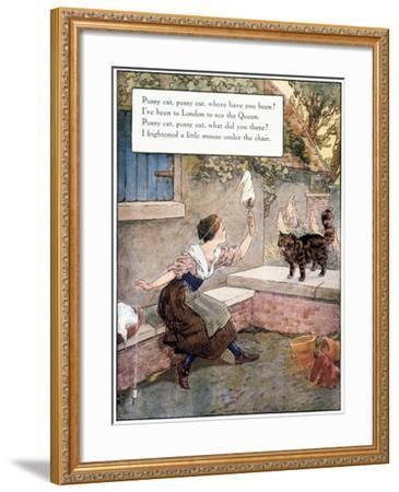 Richardson: Pussy Cat-Frederick Richardson-Framed Giclee Print