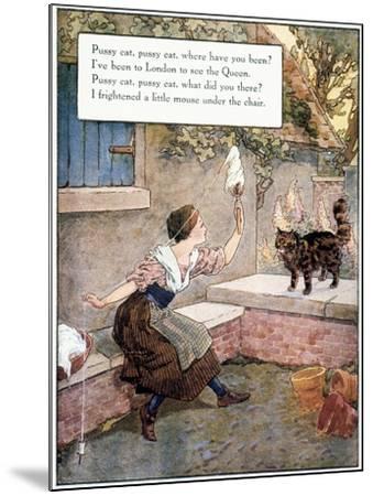 Richardson: Pussy Cat-Frederick Richardson-Mounted Giclee Print