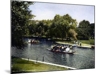 Boston: Swan Boats, c1900--Mounted Giclee Print