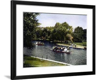 Boston: Swan Boats, c1900--Framed Giclee Print