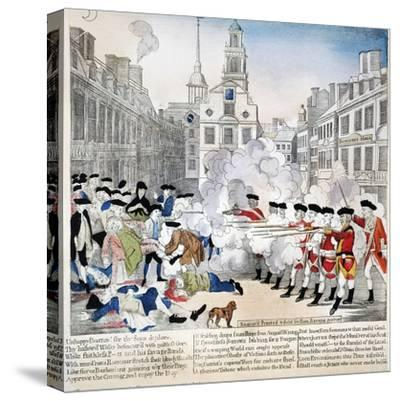 Boston Massacre, 1770-Paul Revere-Stretched Canvas Print