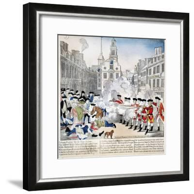Boston Massacre, 1770-Paul Revere-Framed Giclee Print