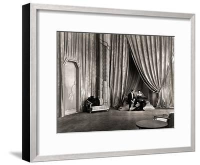 Silent Film Still: Couples--Framed Giclee Print