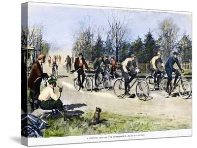 Bicycle Race, 1896-Arthur Burdett Frost-Stretched Canvas Print