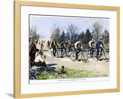 Bicycle Race, 1896-Arthur Burdett Frost-Framed Giclee Print