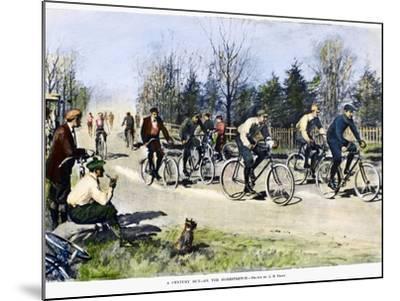Bicycle Race, 1896-Arthur Burdett Frost-Mounted Giclee Print